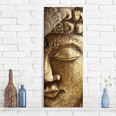 Quadro in vetro - Vintage Buddha - Pannello