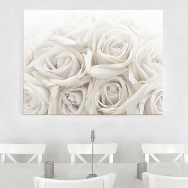 Quadro in vetro - Wedding Roses - Orizzontale 4:3