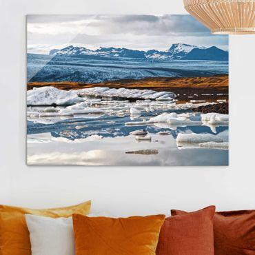 Quadro in vetro - Laguna glaciale