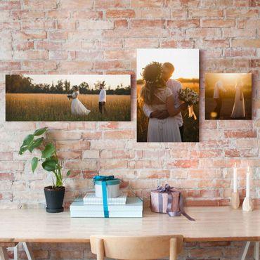 Stampa su tela 3 parti personalizzato collage panoramico