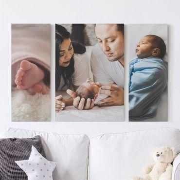 Stampa su tela 3 parti personalizzato trio trittico