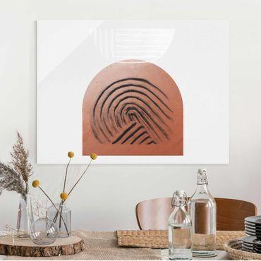 Quadro in vetro - Geometria di argilla indigena