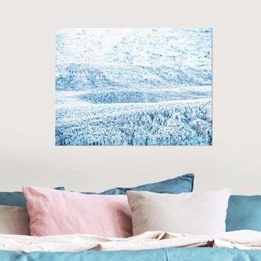 Quadro in vetro - Fantasia glaciale islandese