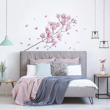 Adesivi murali fiori - Set ramo di magnolia - Stickers pareti