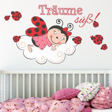 Adesivo murale - La coccinella sogna dolce