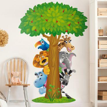 Adesivi murali bambini - N.BF1 Animali della giungla - Stickers cameretta