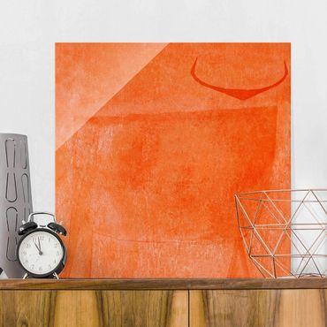 Quadro in vetro - Toro arancione
