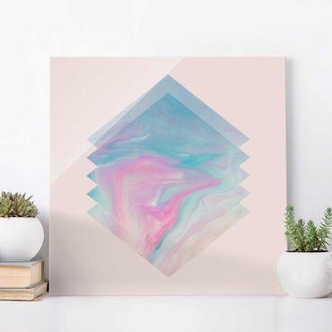 Quadro in vetro - Acqua rosa di marmo