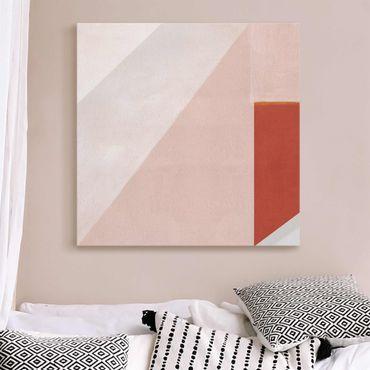 Quadro in vetro - Geometria rosa