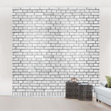 Tende scorrevoli set - Brick Wallpaper White London