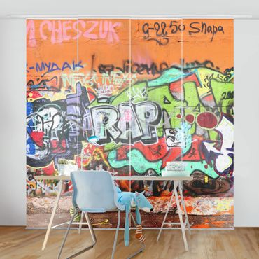 Tende scorrevoli set - Graffiti