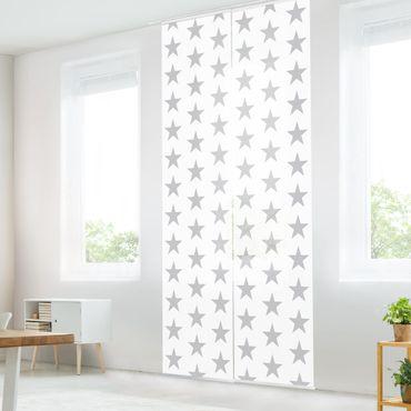 Tende scorrevoli set - Gray Star On White