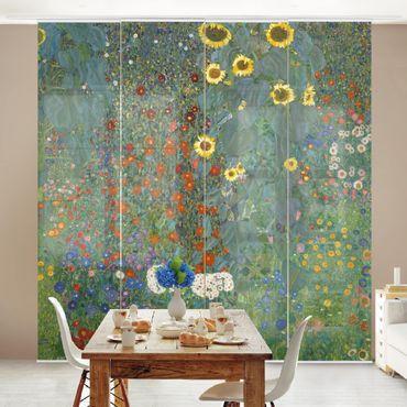 Tende scorrevoli set - Gustav Klimt - Farm Garden With Sunflowers