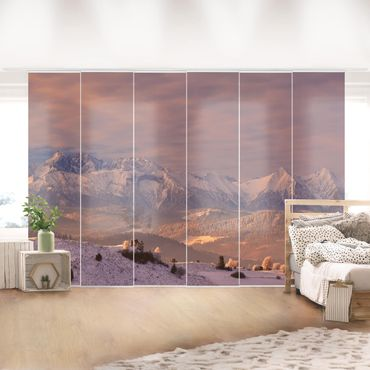Tende scorrevoli set - High Tatras In The Morning