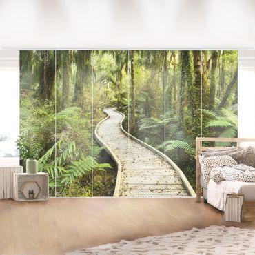 Tende scorrevoli set - Path In The Jungle