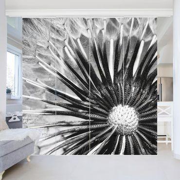 Tende scorrevoli set - Dandelion Black & White
