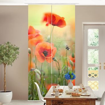 Tende scorrevoli set - Red Summer Poppy
