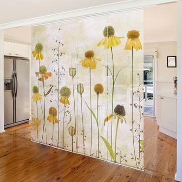 Tende scorrevoli set - Delicate Helenium Flowers