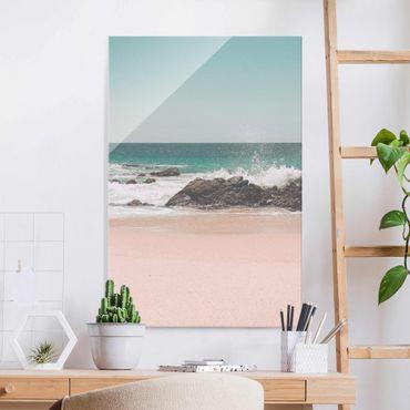 Quadro in vetro - Spiaggia assolata in Messico