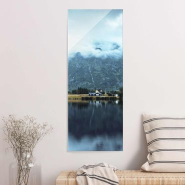 Quadro in vetro - Riflesso sulle Isole Lofoten