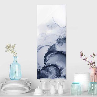 Quadro in vetro - Gioco di colori blu china