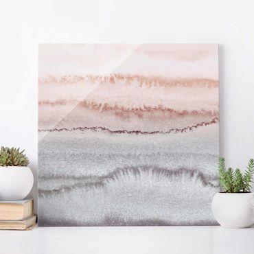 Quadro in vetro - Gioco di colori fragore delle onde nella nebbia