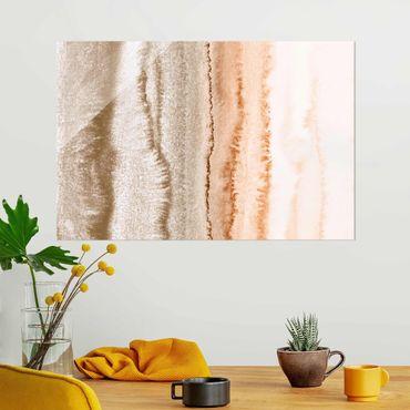 Quadro in vetro - Gioco di colori fragore delle onde in seppia