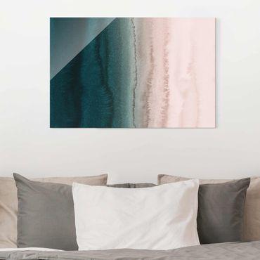 Quadro in vetro - Gioco di colori fragore delle onde
