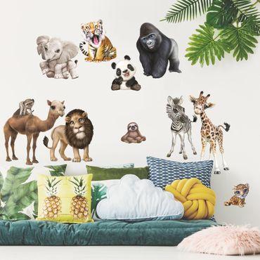 Adesivi murali bambini - Animali in Africa