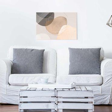 Quadro in vetro - Impressioni frivole in beige