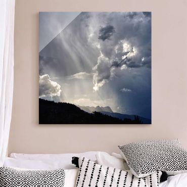 Quadro in vetro - Nuvole selvagge
