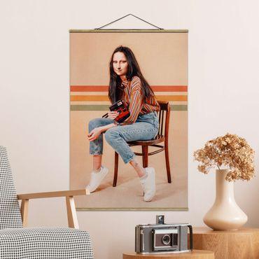 Foto su tessuto da parete con bastone - Retro Mona Lisa - Verticale 3:2