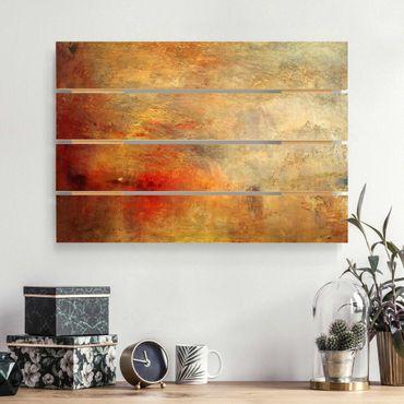 Stampa su legno - Joseph Mallord William Turner - Tramonto sul lago - Orizzontale 2:3