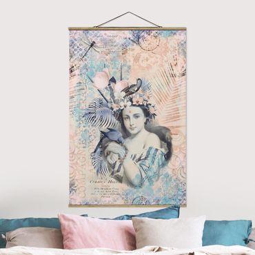 Foto su tessuto da parete con bastone - Vintage Collage - bellezza esotica - Verticale 3:2