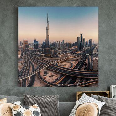 Stampa su tela - Serata A Dubai - Quadrato 1:1