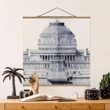 Foto su tessuto da parete con bastone - Prix ??de Rome Sketch I - Quadrato 1:1