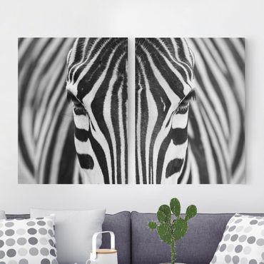 Stampa su tela 2 parti - Zebra Look - Verticale 4:3