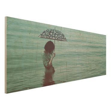 Quadro in legno - Walk In The Water - Panoramico