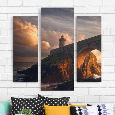 Stampa su tela 3 parti - Lighthouse At The Bridge - Trittico da galleria
