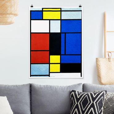 Poster - Piet Mondrian - Tableau No. 1 - Verticale 4:3