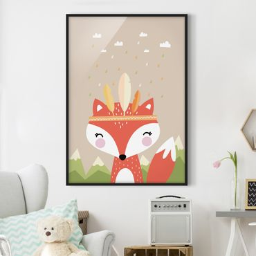 Poster con cornice - Indians Fox - Verticale 4:3