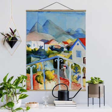 Foto su tessuto da parete con bastone - August Macke - Saint Germain vicini a Tunisi - Verticale 4:3