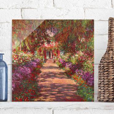 Quadro in vetro - Claude Monet - Percorso nel giardino di Monet Giverny A - Quadrato 1:1