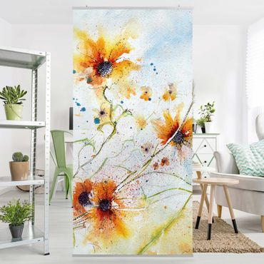 Tenda a pannello Painted Flowers 250x120cm
