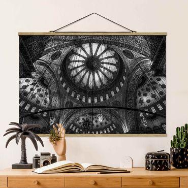 Foto su tessuto da parete con bastone - Le cupole della Moschea Blu - Orizzontale 2:3