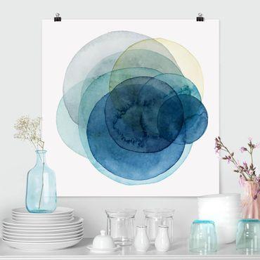 Poster - Big Bang - Blu - Quadrato 1:1