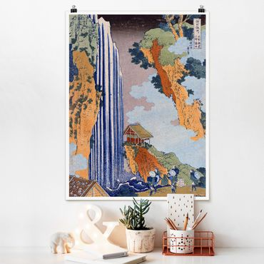 Poster - Katsushika Hokusai - Ono Cascata - Verticale 4:3