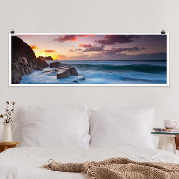Poster - By The Sea In Cornovaglia - Panorama formato orizzontale