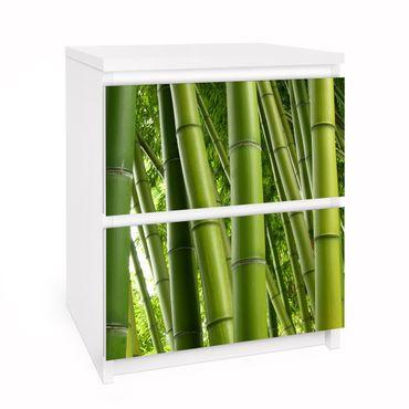 Carta adesiva per mobili IKEA - Malm Cassettiera 2xCassetti - Bamboo Trees No.1