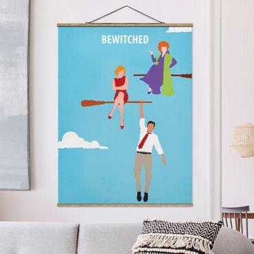 Foto su tessuto da parete con bastone - Bewitched Movie Poster - Verticale 4:3